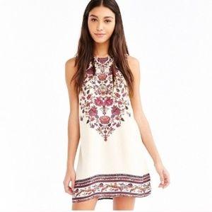 NWT UO Ecote Tan Motif Printed Sleeveless Dress